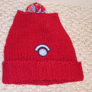 NWT Abercrombie Kids Red Beanie Knit Hat One Size